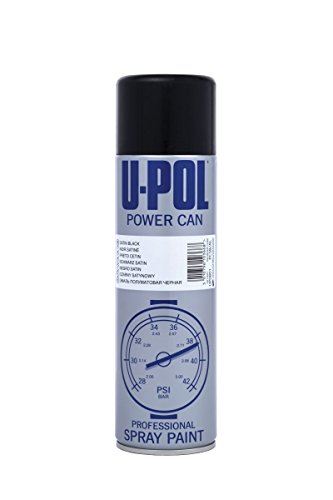 UPol Power Can Aérosol Noir Satin 500ml PCSB/AL de UPol
