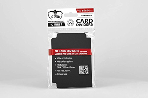 Intercalaires Carte Ultimate Guard Taille standard (lot de 10, Noir) de Ultimate Guard