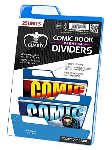 Ultimate Guard Premium Comic Book Intercalaires (Lot de 25, Bleu) de Ultimate Guard
