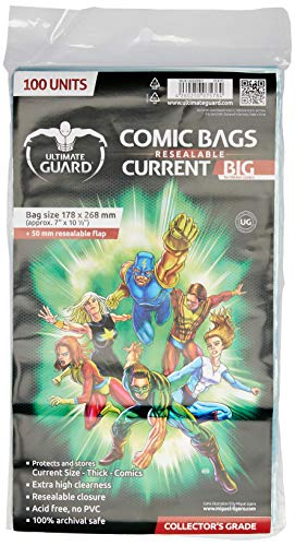 "Ultimate Guard ""Big"" Comic Sacs (courant, Transparent) de Ultimate Guard"