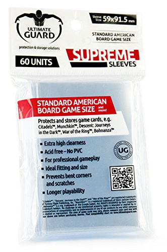 Ultimate Guard Supreme Sleeves For Board Game Cards Standard American (60) Ultimate Guard de Ultimate Guard