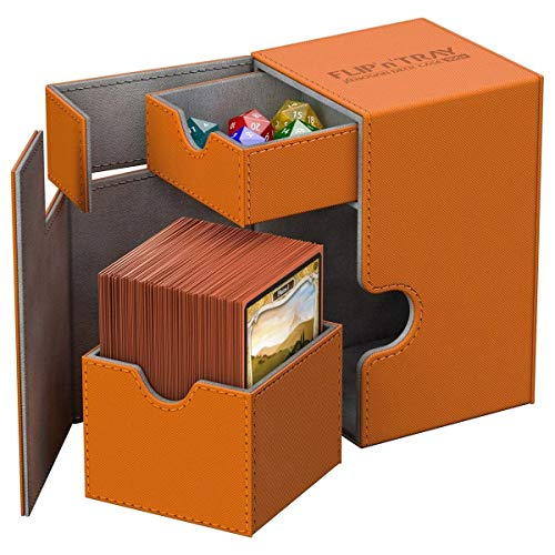 "Ultimate Guard Ugd10780 ""Ultimate Guard Flip 'n 'tray Deck Case 80 + Xenoskin"" Jeu de cartes, Orange de Ultimate Guard"