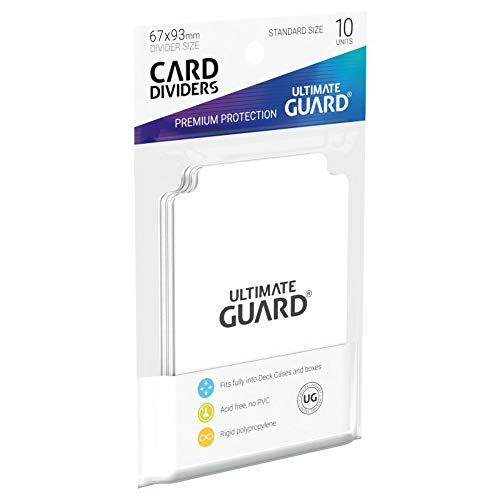 """Ultimate Guard ugd010080 Intercalaires carte, Taille Standard Blanc Lot de 10"" de Ultimate Guard"