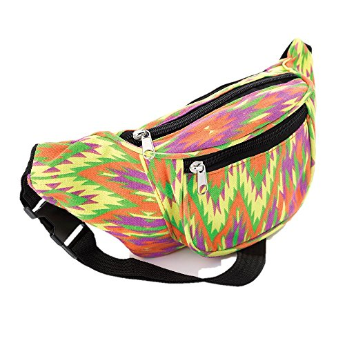 Bright Tone Abstract Coloured Hip Belt Bum Bag de Unbranded