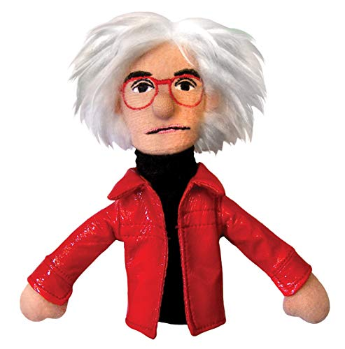 Unemployed Philosophers Guild Andy Warhol Finger Puppet and Refrigerator Magnet - for Kids and Adults de Unemployed Philosophers Guild