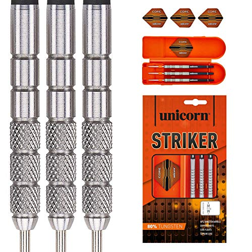 Unicorn Core XL Striker Knurled Fléchettes Homme, Silver, 23 g de Unicorn