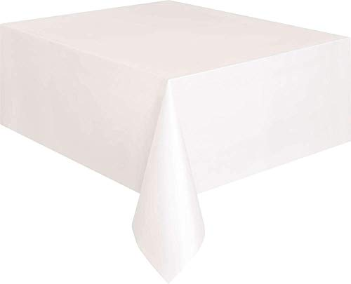 Unique Party 5095 - Nappe en Plastique Blanche 2,74 m x 1,37 m de Unique Party