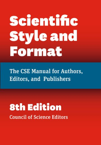 Scientific Style and Format - The CSE Manual for Authors, Editors, and Publishers 8ed de University of Chicago Press