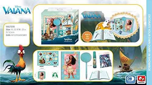 VAIANA DISNEY COFFRET JOURNAL INTIME STICKERS STYLO de TALDEC