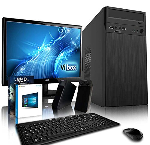 "Vibox Tower Paquet 4 Unité centrale Gaming Ecran Non tactile 18,5""(46,99 cm) Noir (AMD Athlon 64 fx, 8 Go de RAM, 1 To, AMD Radeon HD 8370D) de VIBOX"