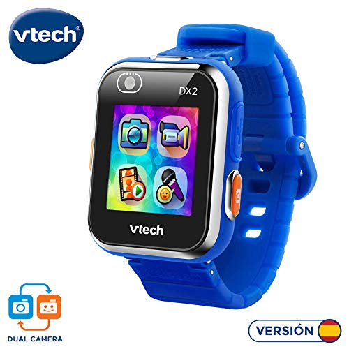 VTech Kidizoom Smart Watch DX2 montre intelligente pour enfants avec Double appareil photo Estandar bleu, 80-193822 - Version Espagnole de VTech
