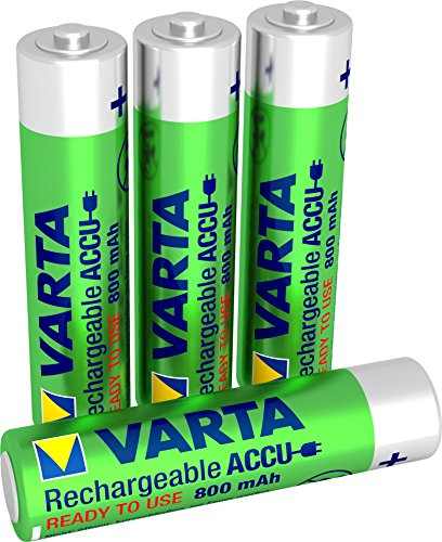 Varta Toy Lot de 4 piles rechargeables Ready2Use, AAA, Ni-MH de Varta