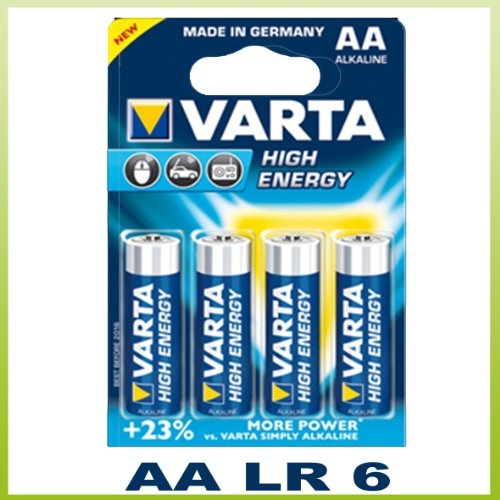 Varta High Energy Pile AA alcaline Lot de 4 (Import Allemagne) de Varta