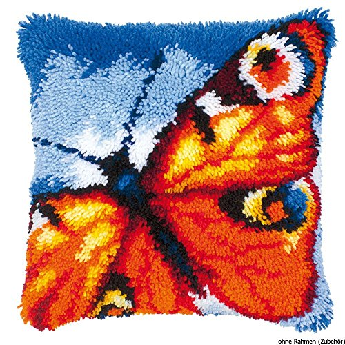 Kit coussin au point noué Un papillon orange de Vervaco