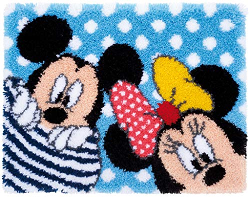 Vervaco Kit Tapis au Point noué Disney Mickey & Minnie de Vervaco