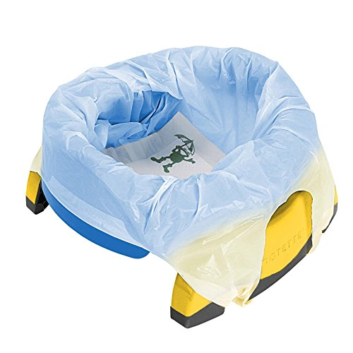 Vital Innovations 2730–13 Potette Plus – Le pot de voyage 2 en 1 Bleu/Jaune de Vital Innovation