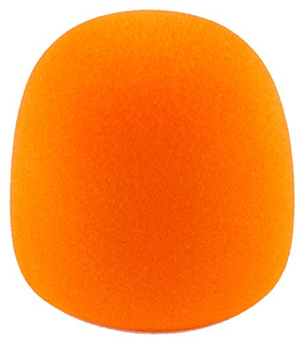 Woodbrass WS02 Bonnette pour Microphone en mousse Orange de WOODBRASS