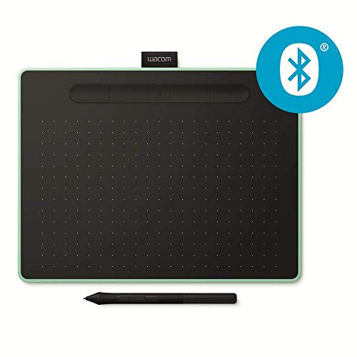 Wacom CTL-6100WLE-N Intuos Medium Pen Bluetooth - Vert Pistache  - Version UK and Allemande (Prises Différentes) de Wacom