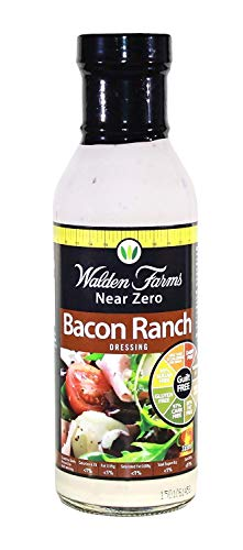 Walden Farms - Sauce Assaisonnement Vinaigrette Salade au Bacon Ranch Sans Calorie 355 ml de Walden Farms