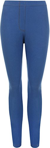 WearAll - Legging de tout son long apparence du jean - Leggings - Femmes - Bleu Royal - 54-56 de WearAll
