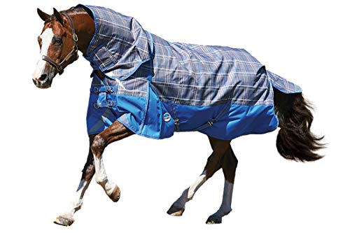 Weatherbeeta ComFiTec Premier Trio Medium Detach-A-Neck Turnout Rug 6ft Grey Plaid de Weatherbeeta