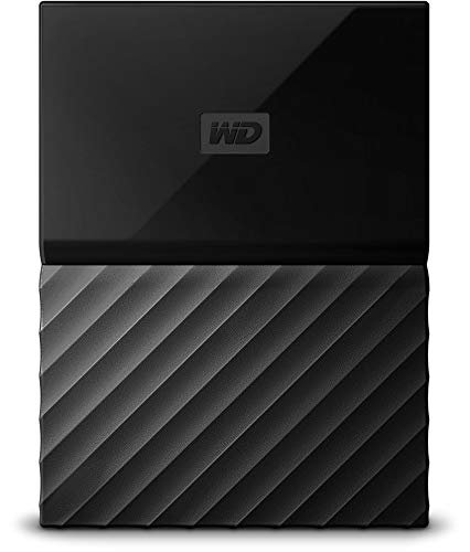 WD My Passport 1 TB Portable Hard Drive and Auto Backup Software for PC, Xbox One and Playstation 4 - Black de Western Digital