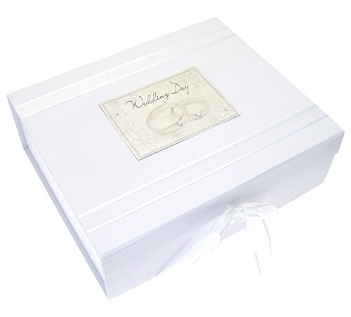 White Cotton Cards Boîte souvenir Wedding Bliss Anneaux (Import Royaume Uni) de White Cotton Cards