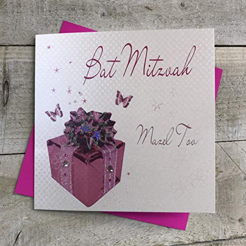 White Cotton Cards Carte juif Bat Mitzvah Mazel Tov fait main de White Cotton Cards
