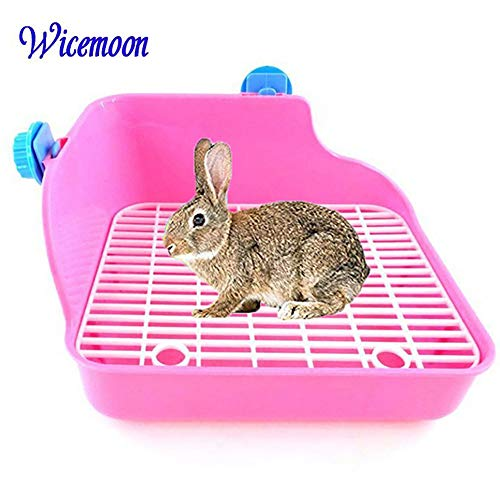 Toilettes propre Wicemonon pour animal domestique, lapin - Double maille - Anti-projection d'urine de Wicemoon