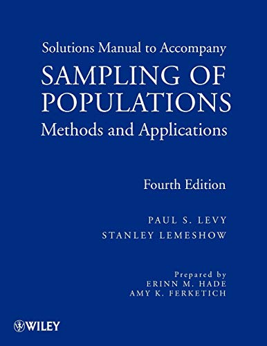 Sampling of Populations: Methods and Applications Solutions Manual de Wiley-Blackwell