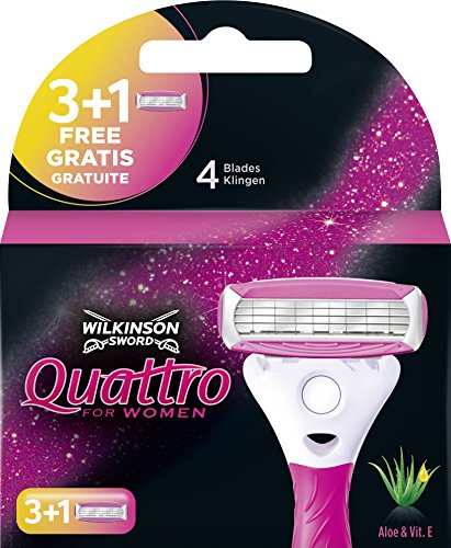 Wilkinson Sword Quattro for women 3 lames de rasoir + 1 lame gratuit de Wilkinson