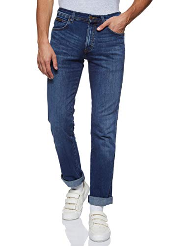 Wrangler - Arizona  Straight Fit  - Jeans - Droit - Homme Bleu (burnt blue 39E) 42W / 32L de Wrangler