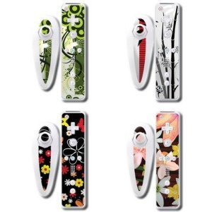 Wrapstar Flower Art 4-Pack Graphic Skin for Wii Nunchuk and Remote (Wii) [import anglais] de Wrapstar