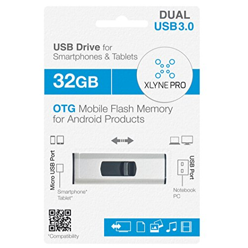 Xlyne USB 3.0 Flash Drive Mémoire pour PC/Smartphone/Tablette (Micro USB) 32 go de Xlyne
