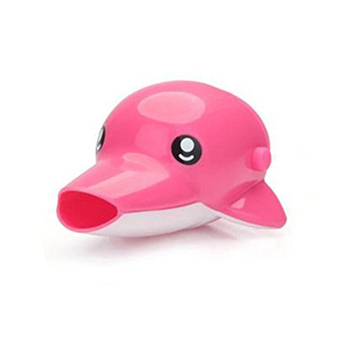 YeahiBaby Enfants Pink Dolphin eau robinet Extender Kids se laver les mains aide de YeahiBaby