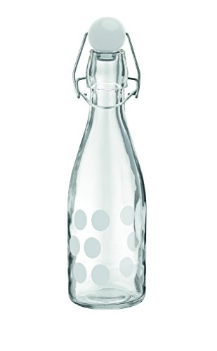 Zak designs 1313-190 Dot Bouteille Verre Blanc 250 ml de Zak Designs