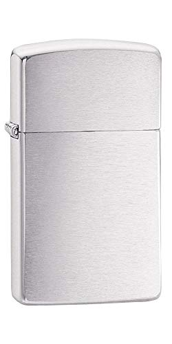 Zippo Slim - Brushed Chrome Lighter - Brushed Chrome de Zippo