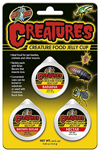 Zoo Med Creatures Food Jelly Cup Assorted Banana-Brown Sugar-Nectar de Zoo Med