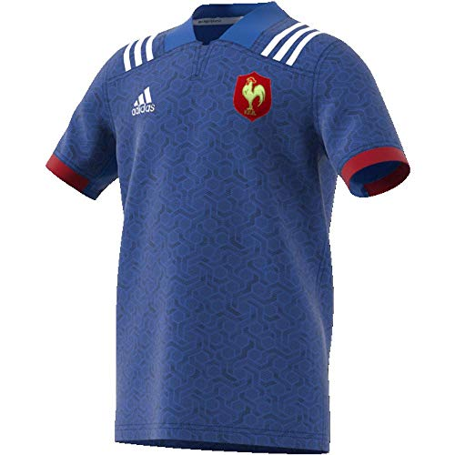 adidas BR3352 Maillot Mixte Enfant, Bleu/Blanc/Powred, FR : XS (Taille Fabricant : 164) de adidas