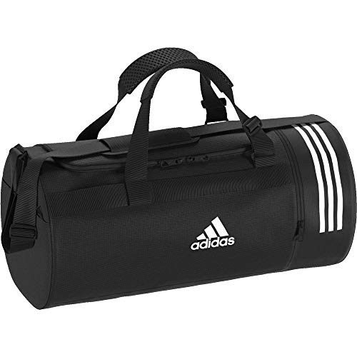 adidas Convertible 3-Stripes Sac de Sport Petit Format Mixte Adulte, Black/Grey Four/White, S de adidas