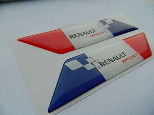 X2 SET OF RENAULT SPORTS FRANCE FLAGE BADGE EMBLÈMES de auto-badges