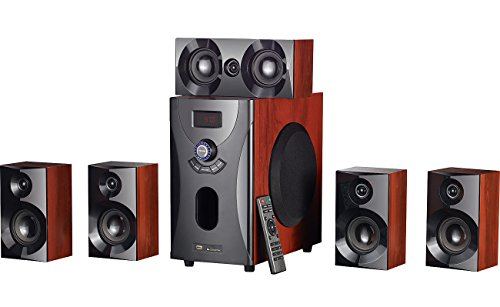 Système audio home cinema Surround 5.1 avec radio / MP3 - Style Bois de Auvisio