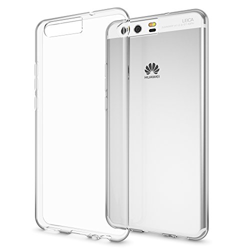 Huawei P10 Coque Protection de NALIA, Housse Motif Silicone Portable Premium Case Cover Transparente, Ultra-Fine Souple Gel Slim Bumper Etui pour P-10 Telephone - Transparent de delightable24