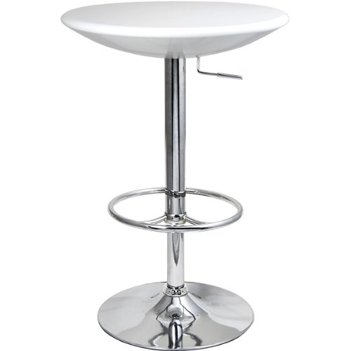 Podium Table – Blanc – Table de bar, table de cuisine, table Diner sur pied, table, table bistrot de drinkstuff