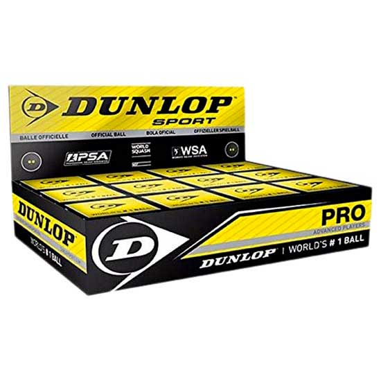 Balles squash Dunlop Pro Double Yellow Dot Box de dunlop