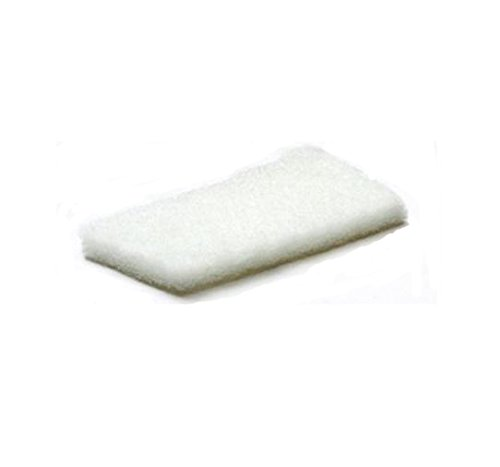E-Line Sol Coussinets 04.01.01.1115 Polyester Edge Aspirateur, 115 mm de largeur x 150 mm de longueur, Blanc (lot de 20) de e-line Floor Pads