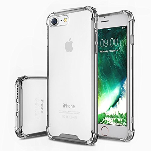 """First2savvv gris iPhone 7 4.7"""" Absorbant les chocs Coque Housse Silicone Case Cover Transparent Crystal Clair Soft Gel TPU -XJPJ-I7-4.7-B11"" de first2savvv"