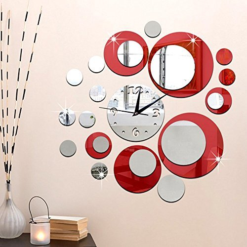 forepin diy d frameless moderne mur grosse sticker horloge pendule murale effet miroir maison et. Black Bedroom Furniture Sets. Home Design Ideas