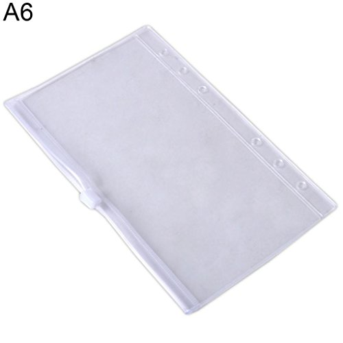 Good01 Transparent à fermeture Éclair Document Sac enveloppe fichier Sac organiseur de poche A5/A6/A7 A6: Approx.17.5 X 10.5cm transparent de good01