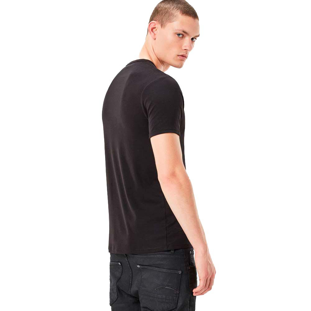 T-shirts Gstar Base Ribbed V Neck S/s 2 Pack Premium 1 By 1 de gstar